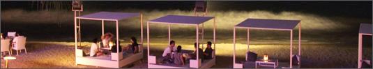 Nachts am Strand von Kuta